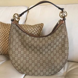Authentic Gucci Metallic GG Twins Hobo Bag